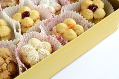 Biscuits with fruit jam royalty free stock photos