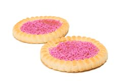 Biscuits with fruit jelly Stock Images