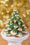Biscuits givrés de pain d'épice Images libres de droits