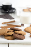 Biscuits with glass of milk. Royalty Free Stock Photo