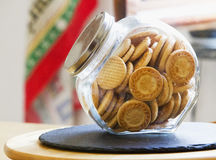 Biscuits in a glass vase Stock Photography