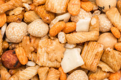 Biscuits And Glazed Peanuts Royalty Free Stock Photos