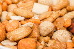 Biscuits And Glazed Peanuts Royalty Free Stock Photo