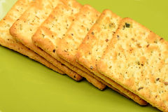 Biscuits On Green Bowl Royalty Free Stock Photos
