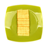 Biscuits On Green Bowl Royalty Free Stock Images