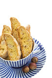 Biscuits with hazelnuts. Stock Photo