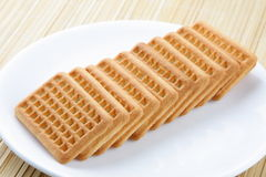 Biscuits. Healthy biscuits served on plate Royalty Free Stock Photos