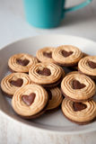 Biscuits with heart shape Royalty Free Stock Photos