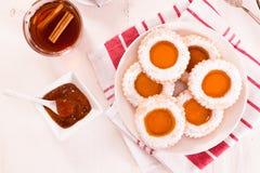 Biscuits heure du thé Photographie stock libre de droits