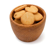 Biscuits isolated on white Royalty Free Stock Photo