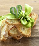 Biscuits italiens traditionnels de biscotti photographie stock