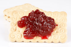 Biscuits with jam Stock Images