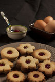 Biscuits with jam homemade Stock Photos