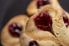 Biscuits with jam Royalty Free Stock Photo