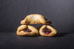 Biscuits with jam Royalty Free Stock Photos