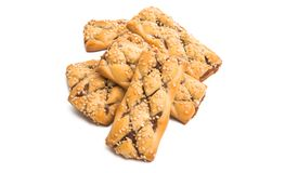 biscuits with jam isolated stock images