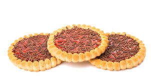 Biscuits with jam isolated Stock Photos
