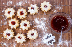 Biscuits and jam Royalty Free Stock Image