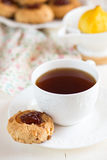 Biscuits with jam Stock Photos