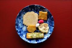 Biscuits japonais traditionnels de riz photographie stock