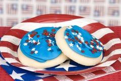 biscuits le quatrième juillet Photographie stock