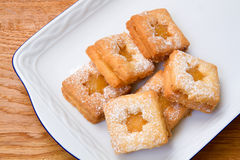 Biscuits with lemon curd Stock Photography