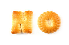 Biscuits letters. Words NO Royalty Free Stock Photos