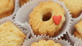 Biscuits with love stock video footage