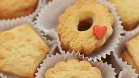 Biscuits with love stock footage