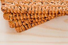 Biscuits maigres de régime avec des graines de lin photo stock
