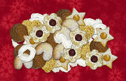 Biscuits and meringue for christmas Royalty Free Stock Images