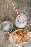Biscuits and milk Stock Photography