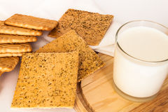 Biscuits and milk Royalty Free Stock Photos