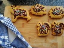 Biscuits moulés photo libre de droits