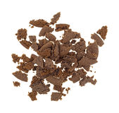 Biscuits néerlandais emiettés de cacao sur un fond blanc Image stock