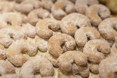 biscuits Noël-cuits au four Petits pains de vanille photo stock