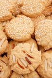 Biscuits with nuts Royalty Free Stock Photos