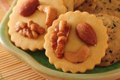 Biscuits nuts Photo libre de droits