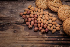 Biscuits with nuts stock photography