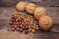 Biscuits with nuts Stock Images