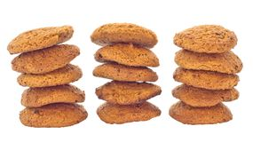Biscuits with oats. Isolate. Royalty Free Stock Photo