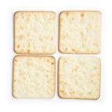 Biscuits ou buscuits de fromage sur le blanc Image libre de droits