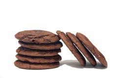 Biscuits ou biscuits de puce de chocolat Image libre de droits