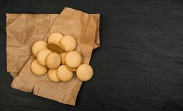 Biscuits ou biscuits faits maison ronds Images libres de droits