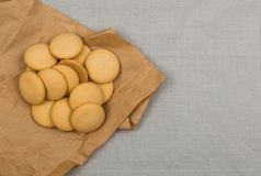 Biscuits ou biscuits faits maison ronds Photographie stock libre de droits