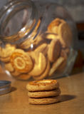 Biscuits over table Stock Photography