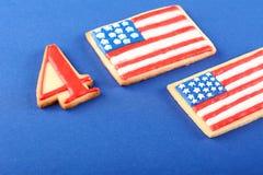 Biscuits patriotiques pour le 4ème juillet Photo libre de droits