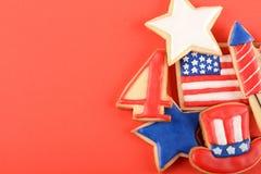 Biscuits patriotiques pour le 4ème juillet Images libres de droits
