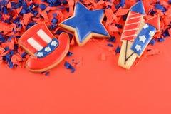 Biscuits patriotiques pour le 4ème juillet Photos stock