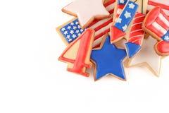 Biscuits patriotiques pour le 4ème juillet Photo stock